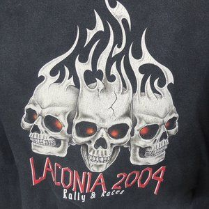 Laconia 2004 Motorcycle Rally & Races Distressed T
